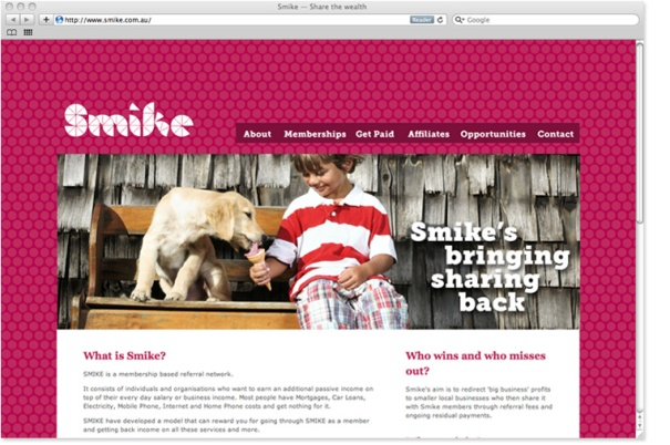 smike website design